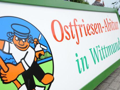 Ostfriesen-Abitur Schild